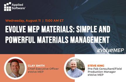 8-11-21 eVolve Materials webinar