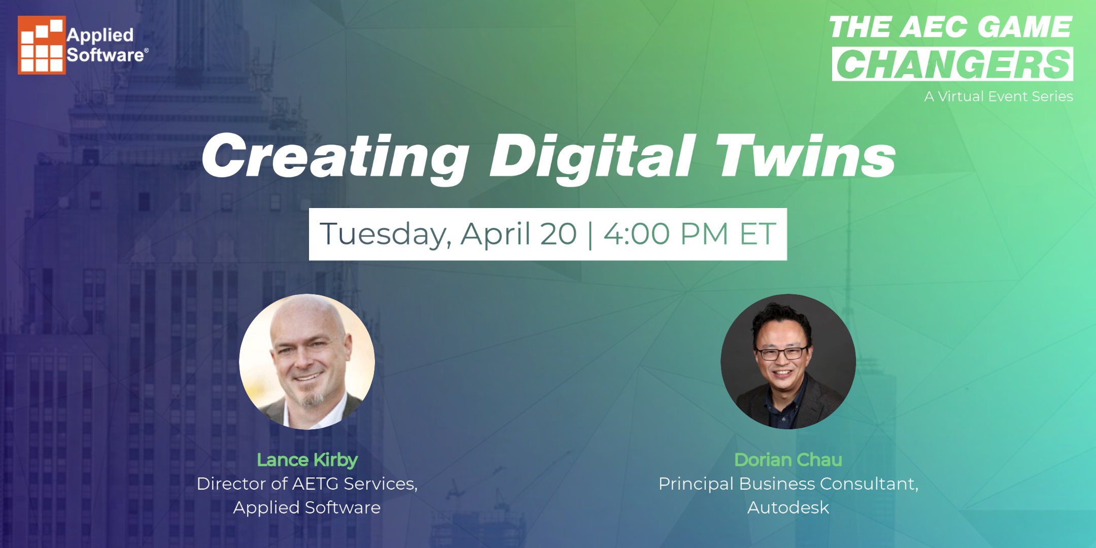 AEC Game Changers Digital Twins