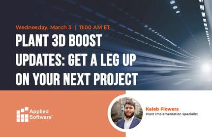 Plant 3D Boost Updates Get a Leg